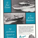 1957 Paragon Gear Works Ad- Photo of Century Boat