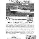 1948 Electric Boat Co Ad- Drawing of Elco 35 Cruisette