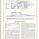 1967 Gle L Marine Sorrento 36' Cruiser Boat Ad- Specs & Drawing