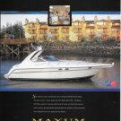 1999 Maxum 3700 SCR Boat Color Ad- Nice Photo