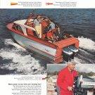 1958 Evinrude Outboard Motors Color Ad- Nice Photo of Trojan Boat
