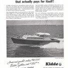 1958 Kidde Fire System Ad- Nice Photo Bay Head Skiff Boat