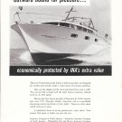 1958 Insurance By North America Ad- Nice Photo Chris- Craft 33' Futura Boat