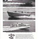 1962 Chris- Craft Sea Skiff Boats Ad- Nice Photo of 20'- 30'- & 32'