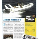 2003 Zodiac Medline II Sportboat Color Ad- Nice Photo & Specs