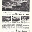 1958 Lone Star Boats Ad- Photo of 3 Models