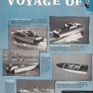 1958 Owens Speedships Boats 2 Page Ad- Photos of 7 Models
