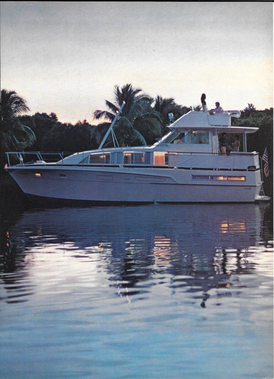 1973 Bertram 46' Yacht 2 Page Color Ad- Nice Photos
