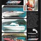 1974 Fiberform Boats Color Ad- Nice Photo of 18'- 24'- 19' Models