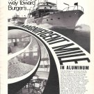 1969 Burger Boat Company Ad- Nice Photo 70' Burger