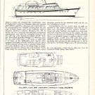 1976 Alden 85' Power Cruiser Yacht Ad- Specs & Drawings