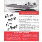 1949 Texaco Marine Products Ad- Nice Photo of Dunphy Shark Boat
