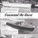 1950 Chris- Craft Boats Ad- Nice Photos of 41'-Riviera-22-28-40'