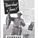 1941 Evinrude 4 Cylinder Outboard Motors Ad- Nice Photo