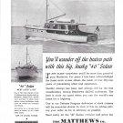 1941 Matthews 46' Sedan Yacht Ad- Nice Photo