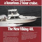 1985 Viking 48 Yacht Color Ad- Nice Photo