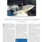 2002 Boston Whaler 270 Outrage Boat Review- Nice Photo & Specxs