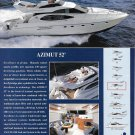 1998 Azimut 52 Yacht Color Ad- Nice Photos