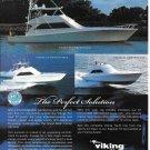 2001 Viking Yachts Color Ad- Nice Photo of 3 Models