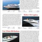1998 Larson LXI- Rinker 192- Four Winns 200 New Boats Ad- Photos & Specs
