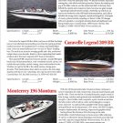1998 Crownline 225- Caravelle Legend- Monterey 196 New Boats Ad-Photos & Specs