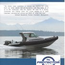 Old Protector Boats 2 Page Color Ad- Nice Photo