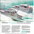 1969 Matthews 45' Yachts Color Ad- Nice Drawing