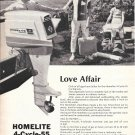 1966 Homelite 4- Cycle- 55 HP Outboard Motor Ad- Nice Photo