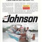 1966 1966 Johnson 100 HP Sea- Horse Outboard Motor Color Ad- Nice Photo- Grady- White Boat