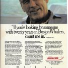 Old Boston Whaler Boats Color Ad- Nice Photo Dick Bertram