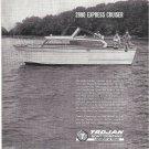 1964 Trojan Sea Breeze 2800 Express Cruiser Boat Ad- Nice Photo