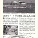 "1964 Burger Boat Co 92' Steel Diesel Yacht Ad- Nice Photos ""Brodie VI"""