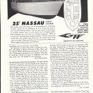 1964 Grady- White 25' Nassua Cabin Cruiser Boat Ad- Nice Photo