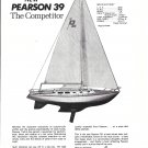 1969 Pearson 39 Yacht Ad- Drawing & Specs