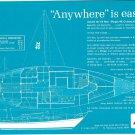 1969 Morgan 40 Cruising Ketch Yacht Ad- Specs & Drawing