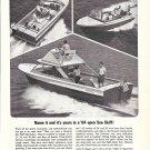 1964 Chris- Craft Sea Skiff Boats Ad- Nice Photo of 21- 24 & 28'
