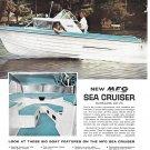 1964 MFG Sea Cruiser Boat Color Ad- Great Photo