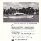 "1964 Matthews 52' Yacht Ad- Nice Photo of ""Fancy Cat"""