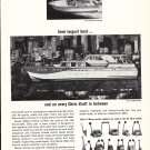 1964 Morse Instrument Co Ad- Drawing of Chris- Craft 65' Constellation Yacht
