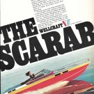 1976 Wellcraft 30' Scarab Boat Color Ad- Nice Photo