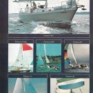 1976 Pearson Yachts 2 Page Color Ad- Photos 0f 12 Models