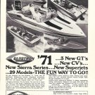 1971 Glastron Boat Company Ad- Photos of 3 New GT's & CV's
