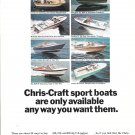 1966 Chris- Craft Sport Boats Color Ad- Photo of 8 Models