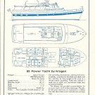 1966 Krogen 65' Power Yacht Ad- Specs & Drawings