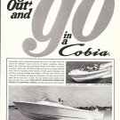1966 Cobia Boats Ad- Nice Photo of G-20 & G-24