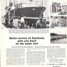 1966 Phillips 66 Ad- Nice Photos of Battery Park Marina Sandusky, Ohio