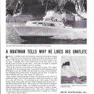 1964 United Boat Builders Ad- Nice Photo Uniflite 29' Sportfisherman