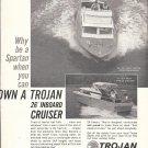 1965 Trojan Boat Co Ad- Nice Photo of 26 Sea Skiff Bimini & Express