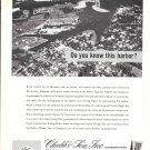 1964 Chubb Insurance Ad- Nice Photo of Greenport, Long Island