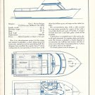 1968 Glen L Marine 26' Boat Ad- Specs & Drawings